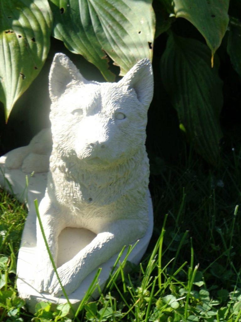 dog concrete art